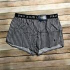 Polo Ralph Lauren Mens Woven Boxers Red Gray Striped XL