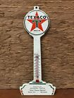 Rare 1930's/1940's Tin Texaco Banjo Pole Sign Thermometer - Sleepy Eye, MN