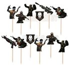Call of Duty Cupcake Toppers 12 or 24 pc Made of Cardstock Paper Birthday Party