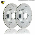 For Honda S2000 AP1 AP2 2000-2009 Drilled Slotted Front Brake Rotors DAC