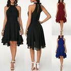 Women Chiffon Mini Dress Evening Formal Dinner Party Cocktail Irregular Dress