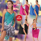 FASHION WOMEN SLING BEACH BIKINI DRESS WRAP SARONG COVERUP OPEN-BACK SLING SKIRT