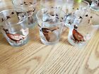 Lot of 6 Pheasant Geese Duck Mallard Glasses Birds Waterfowl Drinking Bar Set