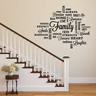 Family Quote Wall Decal Black Wall Decor Words Vinyl Stickers Home Decor