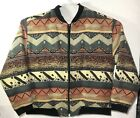 Vintage Native American Tradition Aztec Allen Wah Jacket Coat USA Large Tapestry