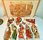 1999 Grandeur Noel 9 Piece Hand Painted Porcelain Nativity Set Collector Edition