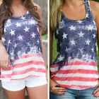 Large American Flag Women Tank Top 4th of July USA Flag Tee Vest Shirt