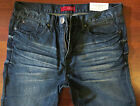 Guess Slim Straight Leg Jeans Mens Size 36 X 30 Vintage Distressed Medium Wash