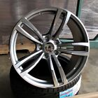 20 Gunmetal Machined Face wheels 437 style fits BMW 3 4 5 and 6 series