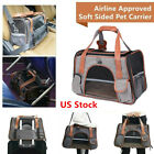 Airline Approved Pet Dog Cat Soft Sided Carrier Soft Bed Kennel Travel Bags Tote