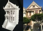 Miniature Painted Lady #2 Victorian White House Train HO Scale Assembled White