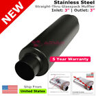 Stainless Steel Straight Thru Universal Exhaust Muffler 3in Inlet Outlet 256823