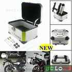 Motorcycle Luggage Trunk Top Lock Case Aluminum Scooter Storage Rear Tail Box