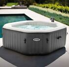 BEST INFLATABLE Hot Tub Spa 120 Bubble Jets 4 Person Octagonal Portable NEW