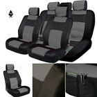 For Jeep New Black Grey PU Leather Mesh Car Truck Seat Covers Gift Set