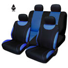 For Jeep New Black and Blue Cloth Car Truck Seat Covers With Gift Full Set