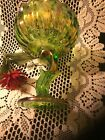 Vintage Iredesant Carnival Glass Lotus Flower Compote