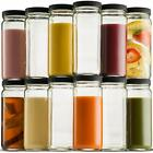 Glass Travel Mason Jar Bottle 16 Ounce 12 Pack For Smoothies Juice Kombucha