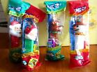 Set of 4 Christmas Theme Pez New in Packages Santa Mrs. Claus Snowman Reindeer