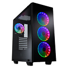 FSP ATX Mid Tower PC Computer Gaming Case with 4 ARGB Fans CMT510 PLUS