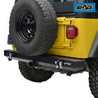 EAG Rear Bumper with Hitch ReceiverD ring Offroad Fit 87 06 Jeep Wrangler YJ TJ