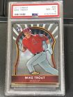 2011 Topps Finest Baseball MIKE TROUT Rookie Card Angels #94 PSA 8 NM-MT