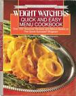 Weight Watchers Quick and Easy Menu Cookbook 1988 HC