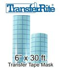 6 x 10 yd roll 30 ft Medium Tack Clear w GRID Transfer Tape Mask for Vinyl