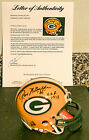 Ray Nitschke Autographed Green Bay Packers Mini Helmet w HOF Insc. PSA Certified