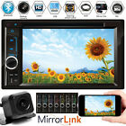 Double DIN In dash Car Stereo Radio CD DVD Player FM USB SD Mirror Link For GPS