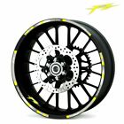 For Yamaha FZ #style 1 Cool wheel stickers Rim Decal Stereo Rubber rim pasters