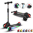 Extra Wide Light Up Wheels Kids Scooters Adjustable Height Toddler Scooters