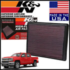 K&N Replacement Air Filter 1999-2019 Chevy Silverado 1500 4.3L / 4.8L / 5.3L