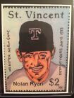 Nolan Ryan Stamp Sketch Card Print 2 9 Signed by Artist Tony Keaton
