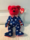 TY Beanie Baby LIBERTY the Bear Red Head Version