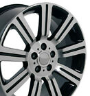 Wheel 99 17 Land Rover Range Rover 22 Inch Alloy Rim 5 lug 120mm Black Machined