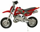 49cc 50cc RED 2 Stroke Gas Motorized Mini Dirt Bike Pocket Bike Pit Bike
