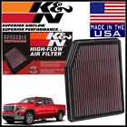 K&N Replacement Air Filter 2019-2020 GMC Sierra 1500 2.7L 4.3L / 5.3L / 6.2L