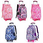 Kids Removable Trolley Bag Backpack Girl Boy Kids Wheeled School Bag 2 Wheels