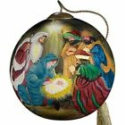 NeQwaThree Kings Nativity Ornament Round Glass Retired 7000268