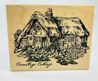 PSX Old Country Cottage House Rubber Stamp 45 x 35
