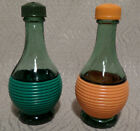 Salt and Pepper Shakers Small Wine Bottle Made in Italy Vintage Set