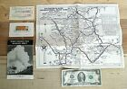 Vintage YELLOWSTONE & WATERTON-GLACIER Peace Park TEXACO Map + 3 EXTRA Items