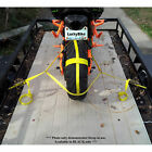 Black ZipStrap Rear Tire Tie Down Motorcycle Rope Ratchet Cargo Strap Cargo