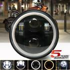 575 5 3 4 LED Motorcycle Headlight DRL Amber Turn Signal Halo Ring For Harley