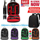 Waterproof Large DSLR Shockproof Camera Backpack Bag Case For Canon Sony Nikon