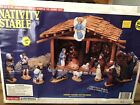 Wee Crafts Nativity Stable Kit 21250 Accents Unlimited Lights Up Ready to Paint