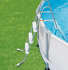 Above Ground Swimming Pool Ladder Steel Frame Resin Steps Pools up to 42 deep