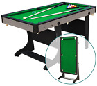 5 Folding Billiard Pool Table Cues Balls Home Game Room Playing Kids Play Games