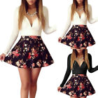 Women Long Sleeve Bodycon Party Floral Mini Dress Ladies Club Cocktail Skirt
